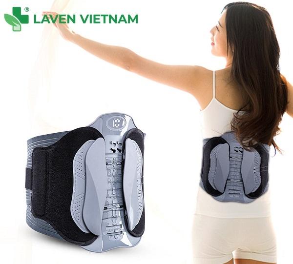 Đai kéo giãn cột sống lưng Alphay YGAH-6 giúp bạn nẹp cố định cột sống lưng để có thể đi lại hoạt động bình thường khi áp lực lên đĩa đệm giảm đi đồng thời đai đóng vai trò trợ lực cho cột sống khi chúng ta khiêng, cầm các vật nặng