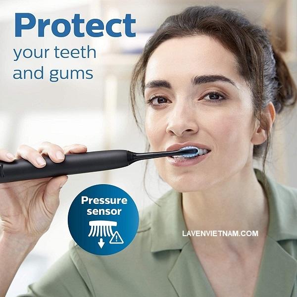 Cá nhân hóa việc đánh răng của bạn với 3 cường độ và 4 chế độ: Làm sạch, Trắng, Sức khỏe nướu và Làm sạch sâu