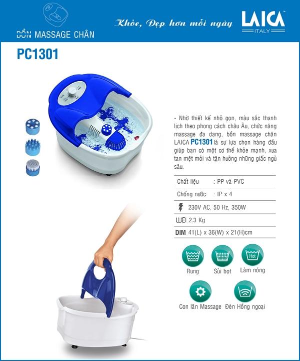 Bồn ngâm chân hồng ngoại Laica PC1301 - Ý
