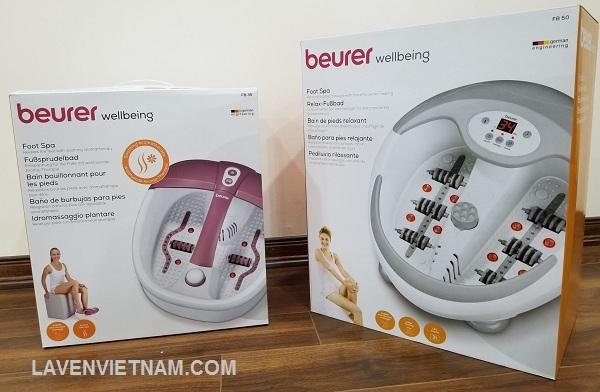 2 dòng sản phẩm bồn ngâm chân của Beurer model FB35 và FB50
