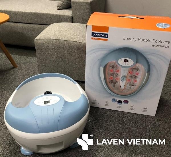 Bồn ngâm chân hồng ngoại Lanaform Luxury là thiết bị tốt để chăm sóc sức khỏe.