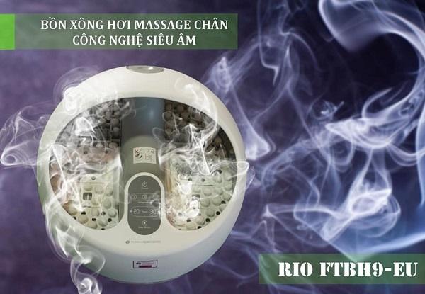 Xông chân bằng bồn Rio giúp cơ thể khoan khoái, khỏe mạnh sau mỗi ngày làm việc căng thẳng.