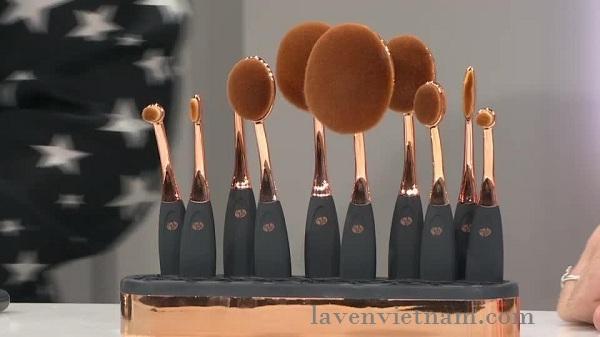 Bộ cọ trang điểm chuyên nghiệp oval 10 món Rio BRCH