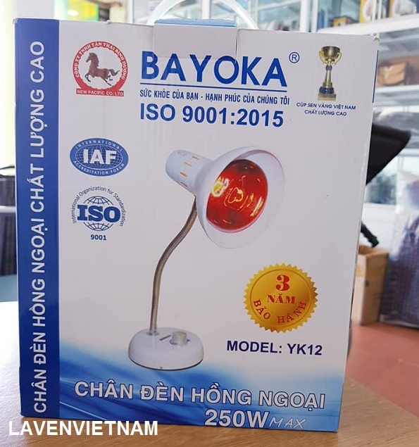 Đèn hồng ngoại Bayoka chân thấp (có chiết áp)