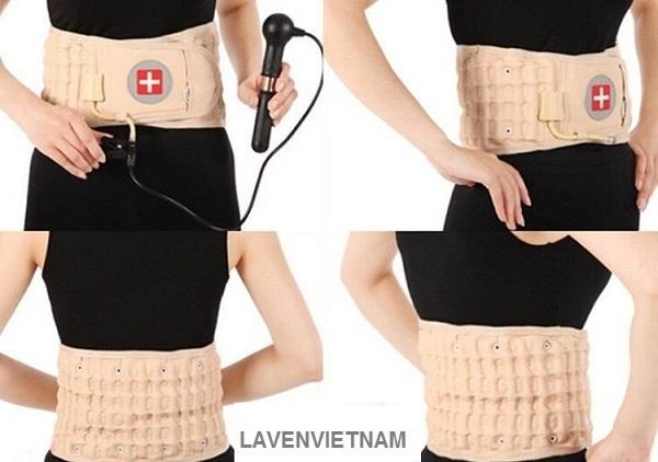 Đai hơi cột sống Waist Brace với thiết kế sang trọng mềm mại cho người bệnh cảm giác dễ chịu cho người bệnh.