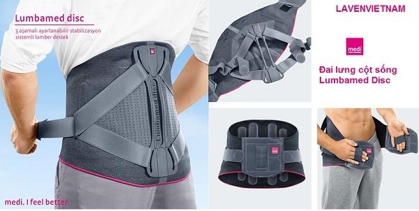 Đai lưng cột sống Lumbamed Disc là một hỗ trợ thắt lưng với hệ thống ổn định có thể điều chỉnh. Sản phẩm được sử dụng riêng cho khớp chỉnh hình ở lưng dưới và chỉ trên da còn nguyên vẹn hoặc nếu có vết thương nào được che phủ đúng cách.