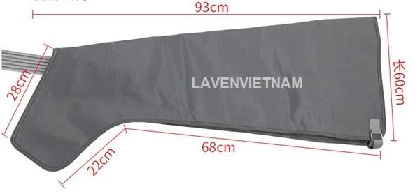 Kích thước của máy massage chân nén khí