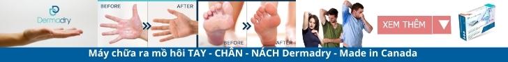 Xem thêm chi tiết về các sản phẩm Máy chữa ra mồ hôi Tay chân Nách Dermadry
