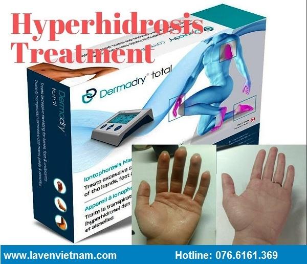 Dermadry là thiết bị chữa ra mồ hôi tay chân nách đầu tiên được Bộ y tế Canada cấp phép