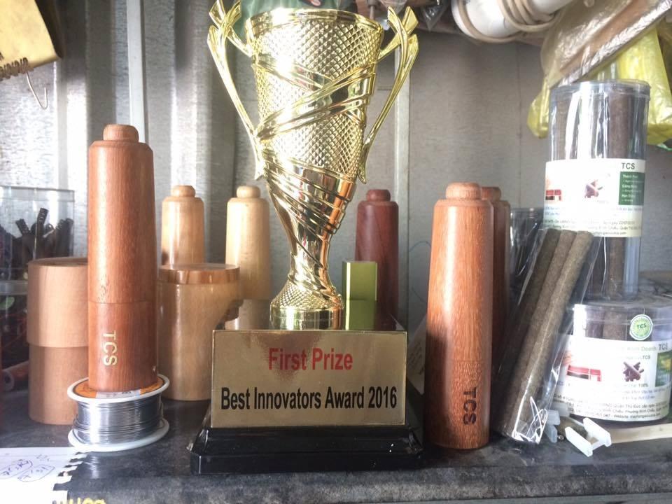 Máy hơ ngải cứu TCS và nhang ngải cứu TCS đã đạt giải nhất trong cuộc thi sáng tạo Quốc tế