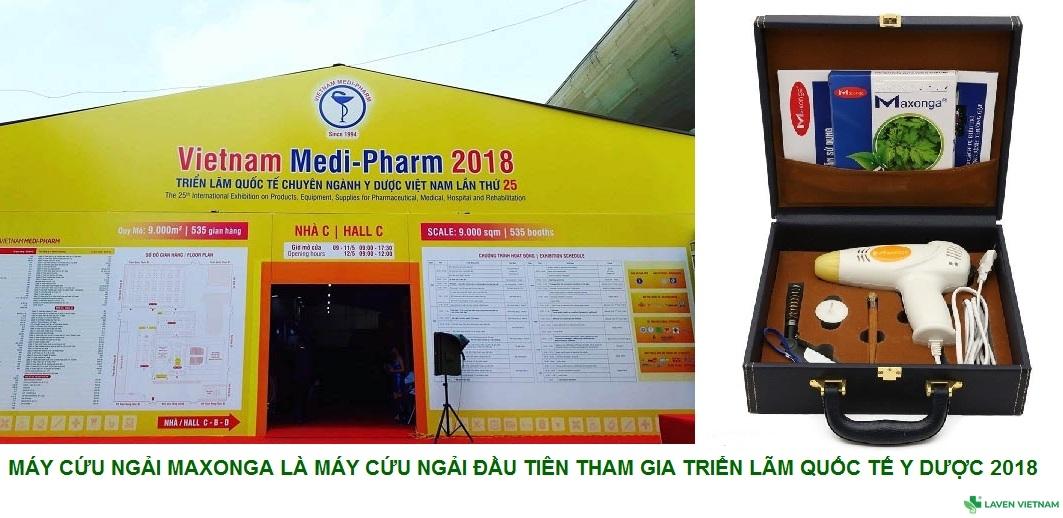 Máy cứu ngải Maxonga lần đầu tiên tham gia triển lãm Quốc tế chuyên ngành Y Dược Việt Nam năm 2018