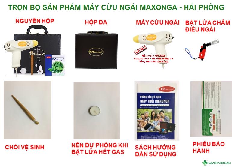 Trọn bộ sản phẩm Máy cứu ngải bao gồm: