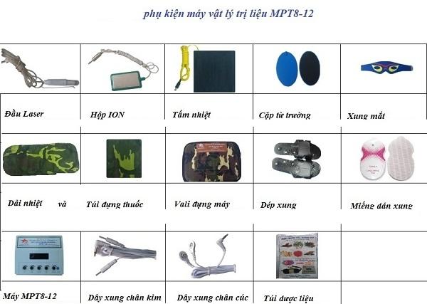 Phụ kiện Máy vật lý trị liệu Bộ Quốc Phòng MPT8-12