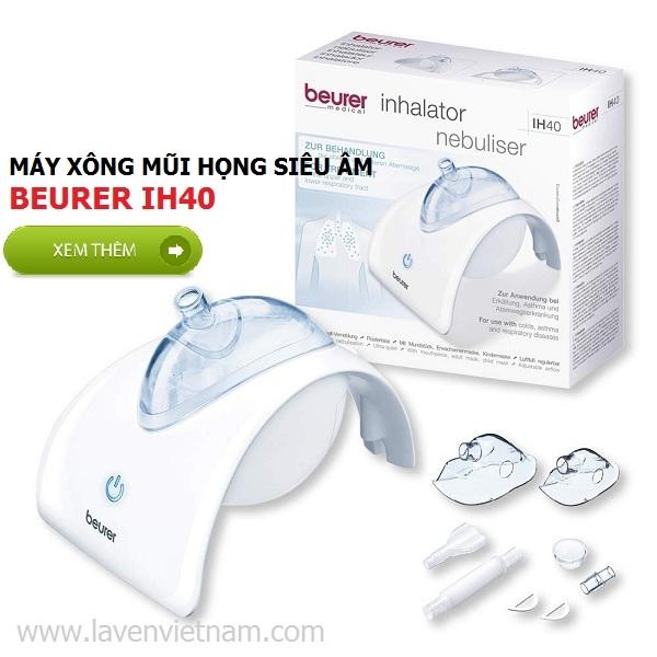 Trọn bộ sản phẩm Máy xông mũi họng siêu âm Beurer IH40