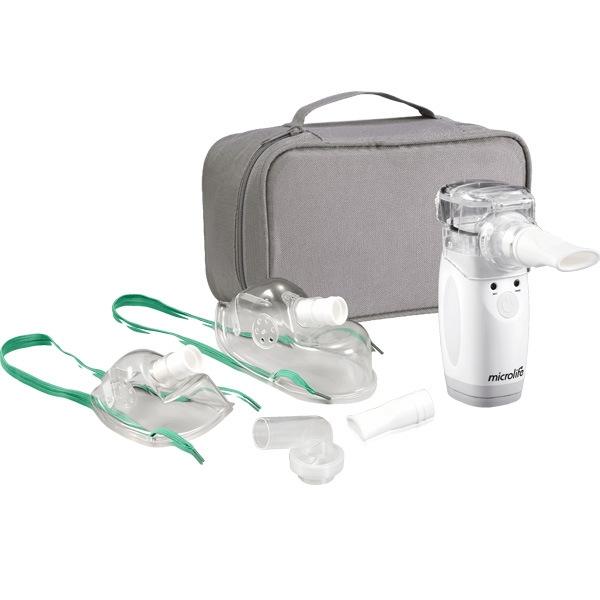 Trọn bộ sản phẩm Máy xông mũi họng Microlife NEB300 nhỏ gọn, dễ sử dụng