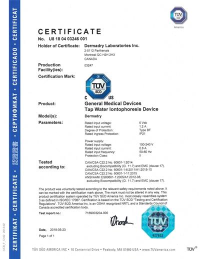 Giấy chứng nhận được cung cấp bởi TÜV-SÜD