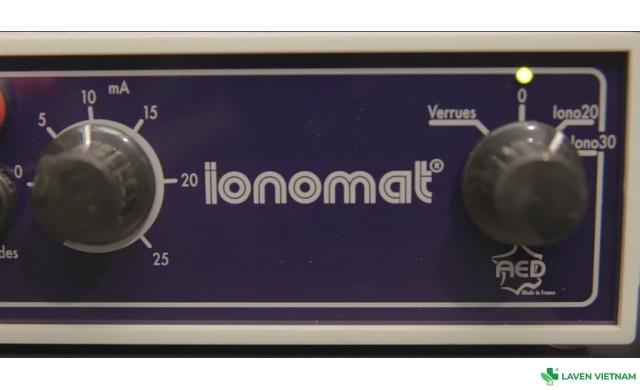 Máy chữa ra mồ hôi tay Ionomat - Pháp