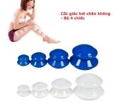 Giác hơi nhựa chân không - giác bầu (Bộ 4 cái)