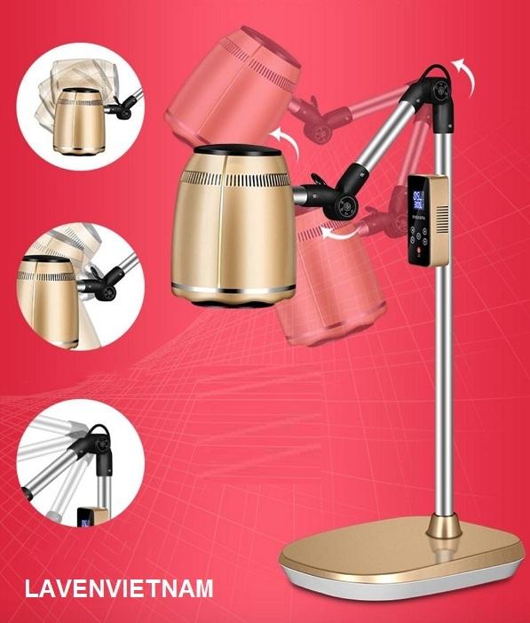 Các khớp đèn xông ngải có thể điều chỉnh cho cúi hay ngẩng thuận tiện cho vị trí người nằm điều trị