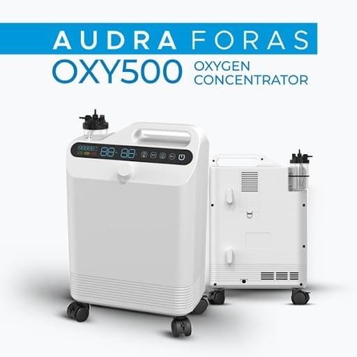 Máy tạo oxy Foras OXY500 là sự lựa chọn tuyệt vời để điều trị oxy cho bệnh nhân mắc các bệnh về đường hô hấp (COVID-19, COPD, v.v.).