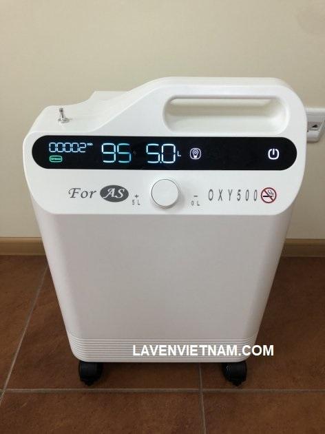 Máy tập trung oxy Foras OXY500 cung cấp lưu lượng oxy 5 lít mỗi phút và chỉ nặng 15 kg.