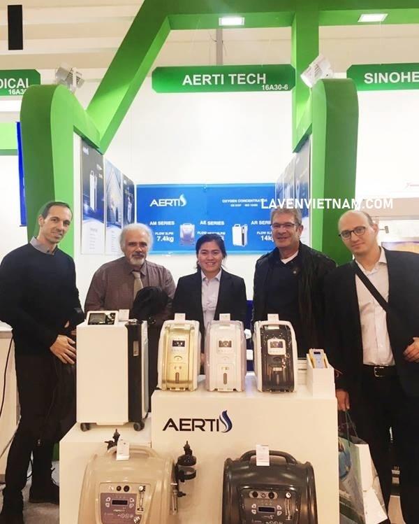 Máy tạo oxy 5 lít Aerti xuất khẩu ra thị trường Anh và Châu Âu