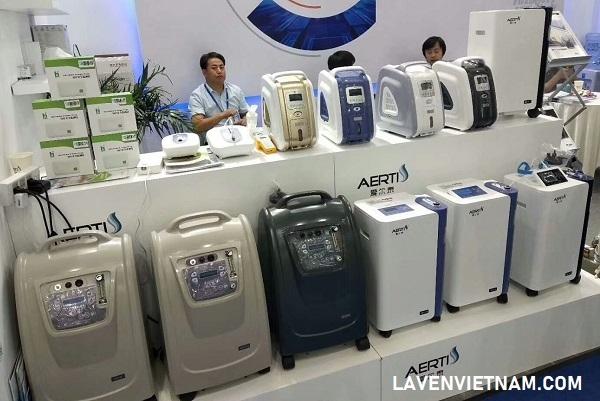Ảnh triển lãm giới thiệu sản phẩm Máy tạo oxy của hãng Aerti