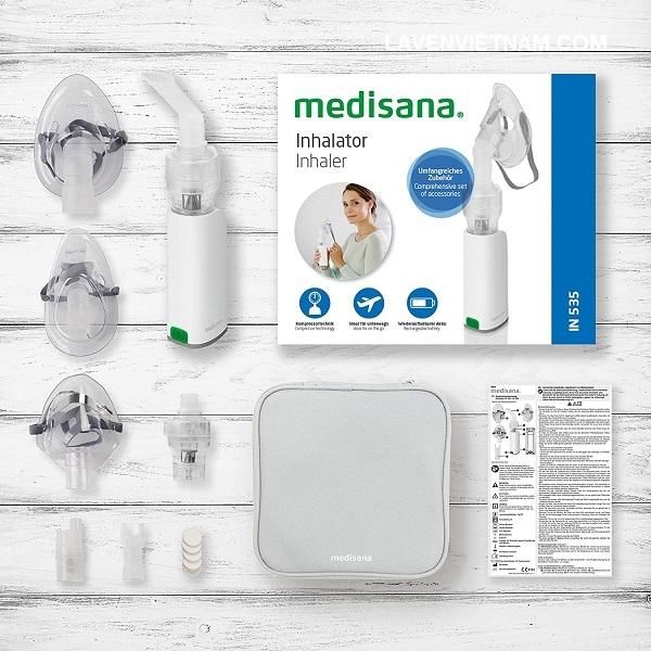 Máy xông mũi họng cầm tay Medisana IN535 thiết kế nhỏ gọn và tiện dụng