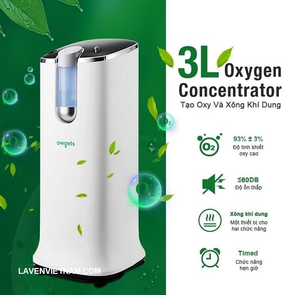 Máy tạo oxy 3 lít Owgels OZ-3-08GWO đem đến sự an tâm cho người bệnh
