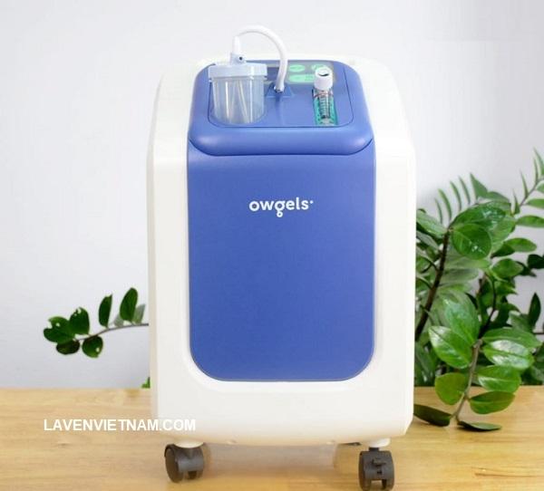 Máy tạo oxy 3 lít Owgels ZY-603 có thiết kế màu xanh dịu cho người bệnh cảm giác thư thái