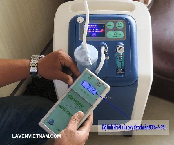 Test chỉ số oxy tinh khiết từ Máy tạo oxy 3 lít Owgels ZY-603