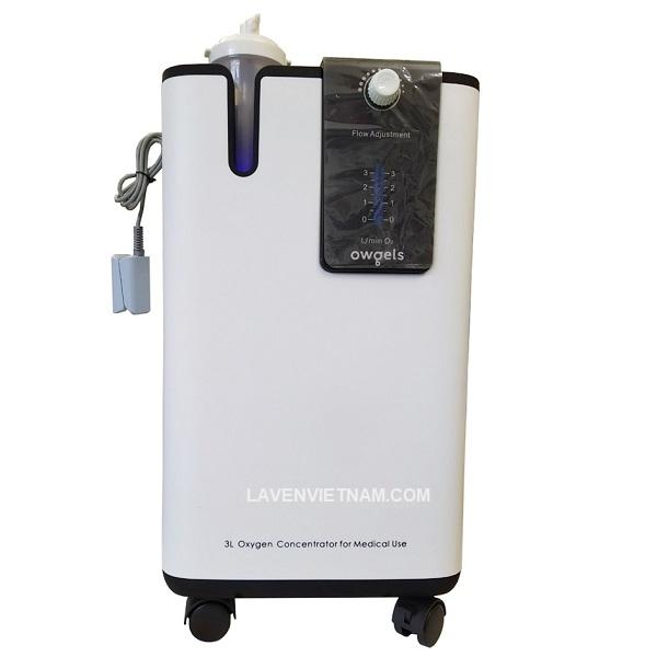 Máy tạo oxy Owgels OZ-3-01TWX0 được tích hợp một đầu nối dây đo SPO2 tiện lợi