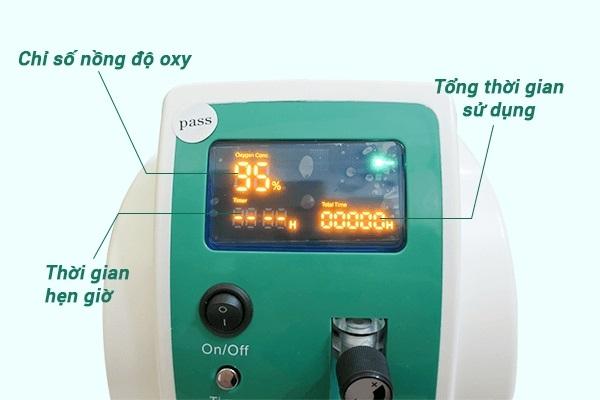 Màn hình hiển thị của Máy tạo oxy Owgels OZ-3-01XW0