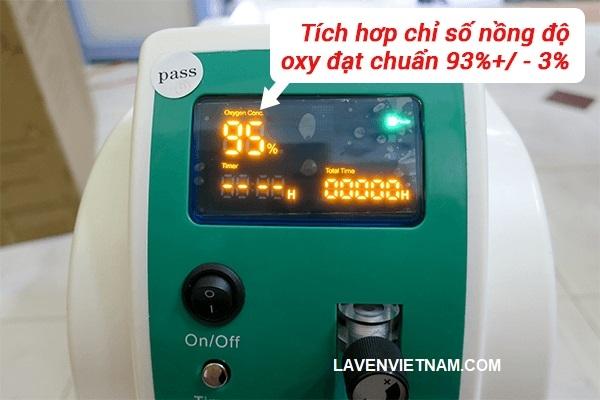 Máy tạo oxy 3 lít Owgels OZ-3-01XW0 tích hợp chỉ số nồng độ oxy tiêu chuẩn