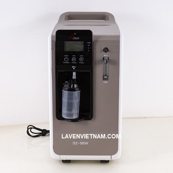 Máy tạo oxy 5 lít Lucass SZ-5BW có độ tinh khiết oxy cao 93% + 3%, Cung cấp oxy và nguyên tử hóa