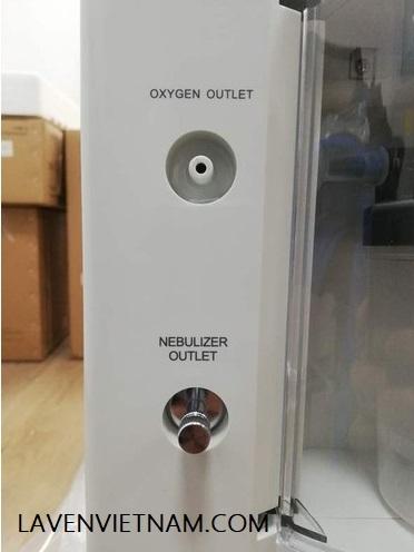 Nút đầu vào khí dung có sẵn trong máy tạo oxy yuwell