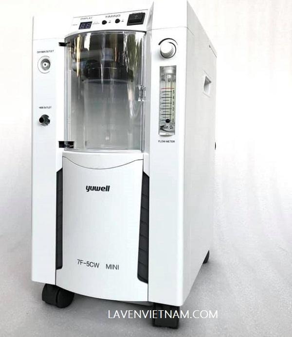Máy tạo oxy 5 lít Yuwell 7F-5CW mini (7F5CW) kèm xông