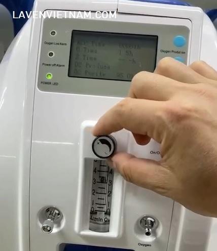 Nút chỉnh lưu lượng oxy trên cột hạt (cột hạt nhập khẩu từ Pháp)