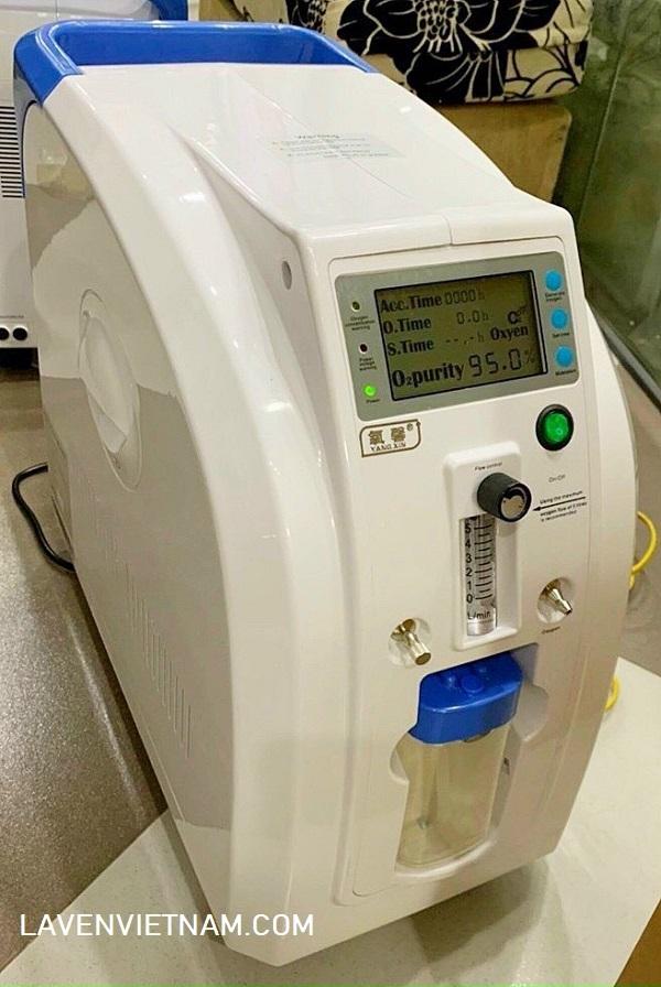 Máy tạo oxy 5 lít Yangxin RK05A có 2 giao diện màn hình đều rất dễ theo dõi các chỉ số lưu lượng và nồng độ oxy