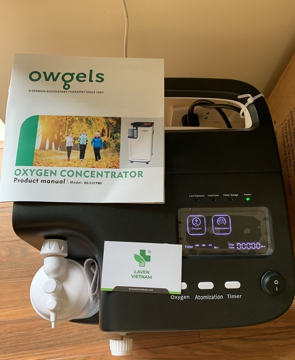 Màn hình điều khiển rõ ràng và dễ sử dụng của Máy tạo oxy Owgels
