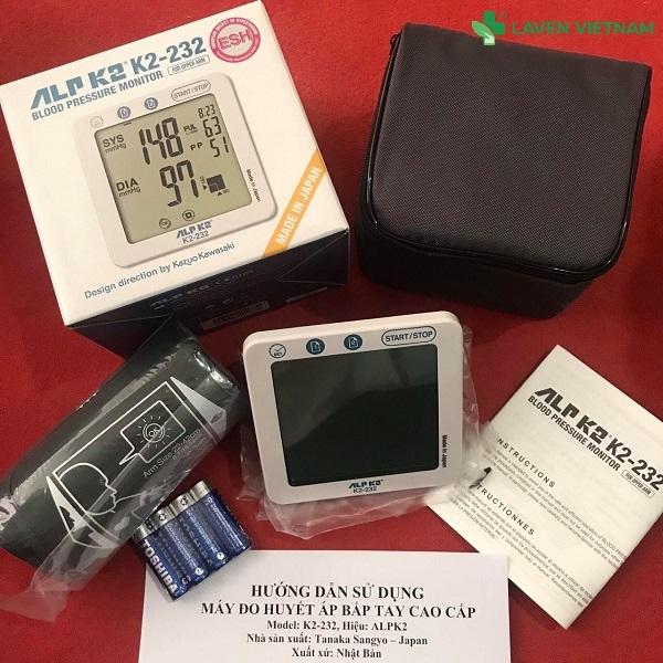 Máy đo huyết áp bắp tay ALPK2 K2-232 sử dụng cả pin và nguồn điện