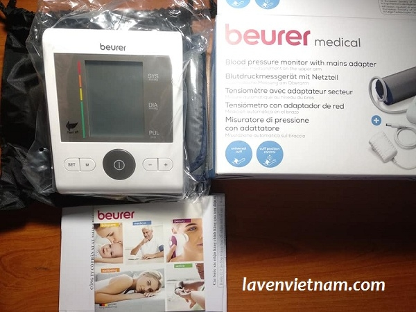Máy đo huyết áp bắp tay Beurer BM28A kèm Adapter