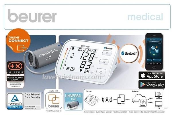 Máy đo huyết áp bắp tay Beurer BM57 Bluetooth