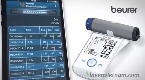 Máy đo huyết áp bắp tay Beurer BM85 Bluetooth