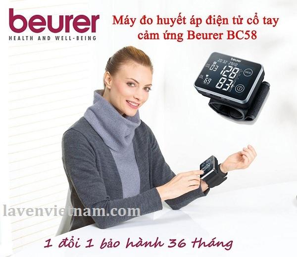 Máy đo huyết áp cổ tay Beurer BC85 bảo hành 1 đổi 1 trong 3 năm cho bất kỳ lý do gì.