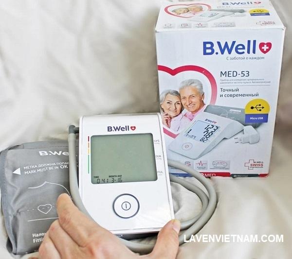 Máy đo huyết áp B.Well WA-C-ML có vòng bít (22-42 cm) là thiết bị tự động chính xác, đáng tin cậy và hiện đại để đo huyết áp và nhịp mạch