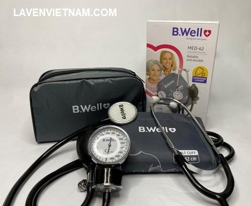 Trọn bộ sản phẩm Máy đo huyết áp cơ B.Well MED-62
