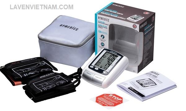Trọn bộ sản phẩm Máy đo huyết áp bắp tay Homedics BPA065