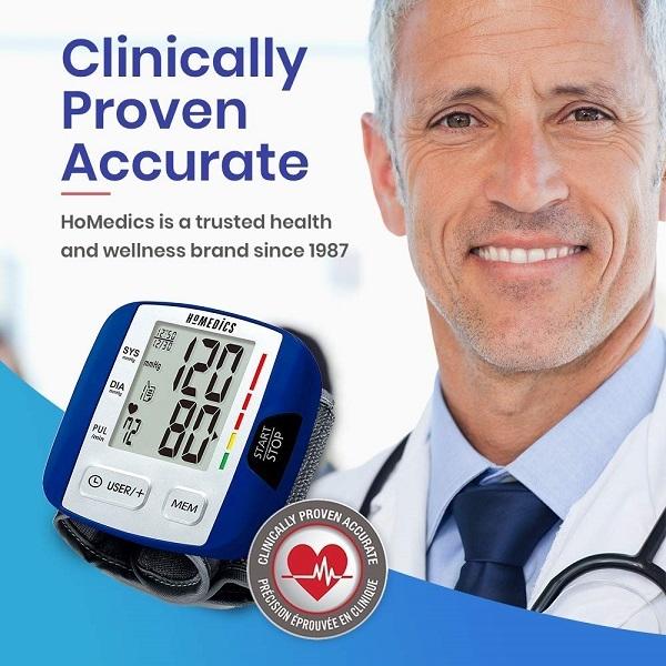 Máy đo huyết áp cổ tay USA HoMedics BPW-0200 công nghệ Smart Measure Technology
