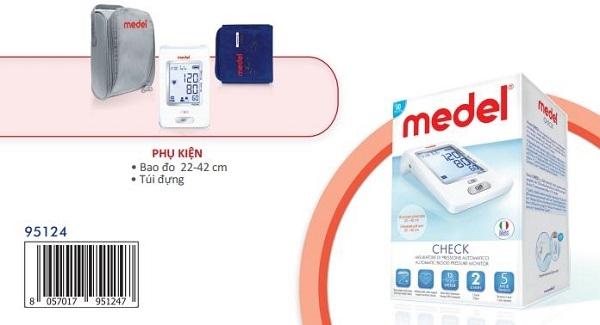 Máy đo huyết áp bắp tay Medel Check cho phép đo và theo dõi các giá trị huyết áp